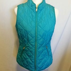 Crown & Ivy Blue Puffer Vest Size S